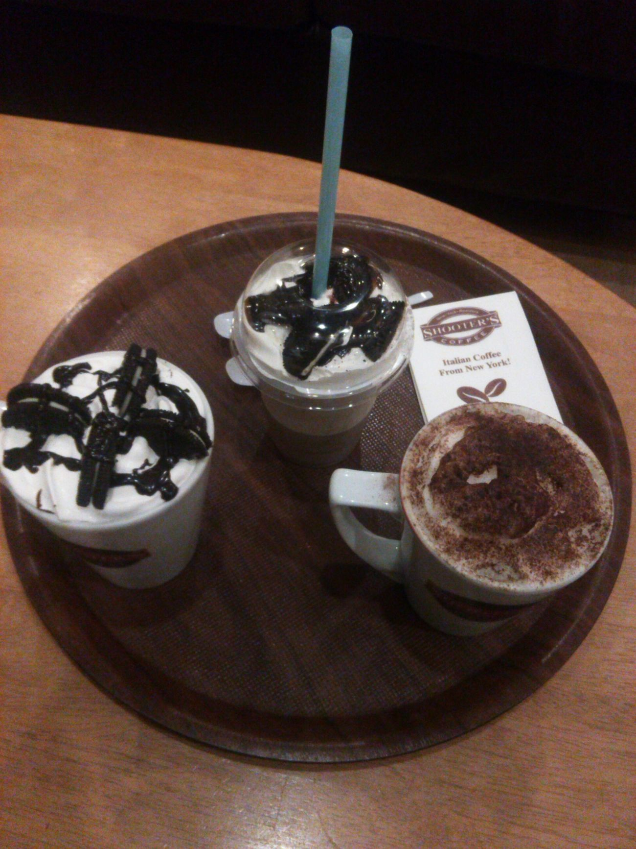 Happy Times ❤ Yesterday Night Two Cookiesandcream With Oreo and Cappucino Drinking Coffee Chilling ✌ ❤❤