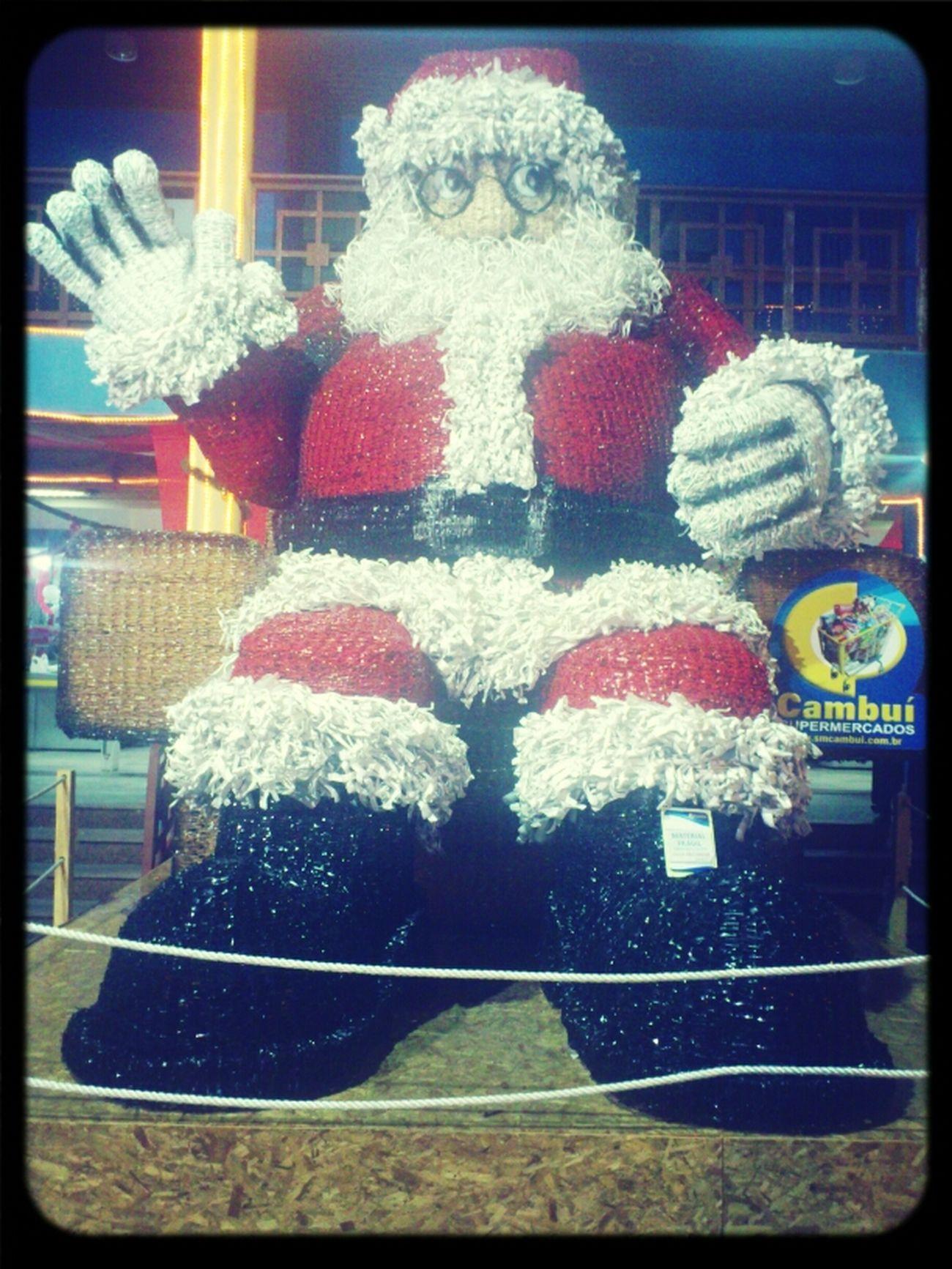 Realmente tá lindo esse Papai Noel de pet do Cambuí!