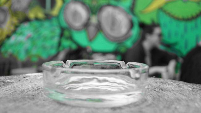 Ashtray  Close-up Colorfilter Green Color Macro Owl