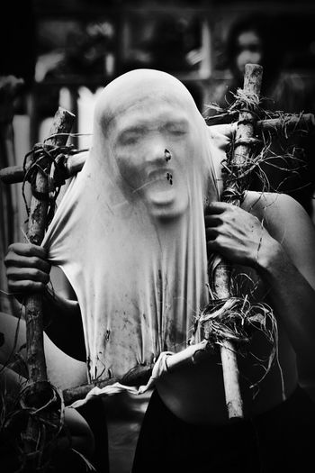 Silencieux. Monochrome Black And White Fine Art Art Performance Expression People Dance Mask Masked Performer Portraiture People And Places People Expressing Themselves Through Art Protesters TCPM