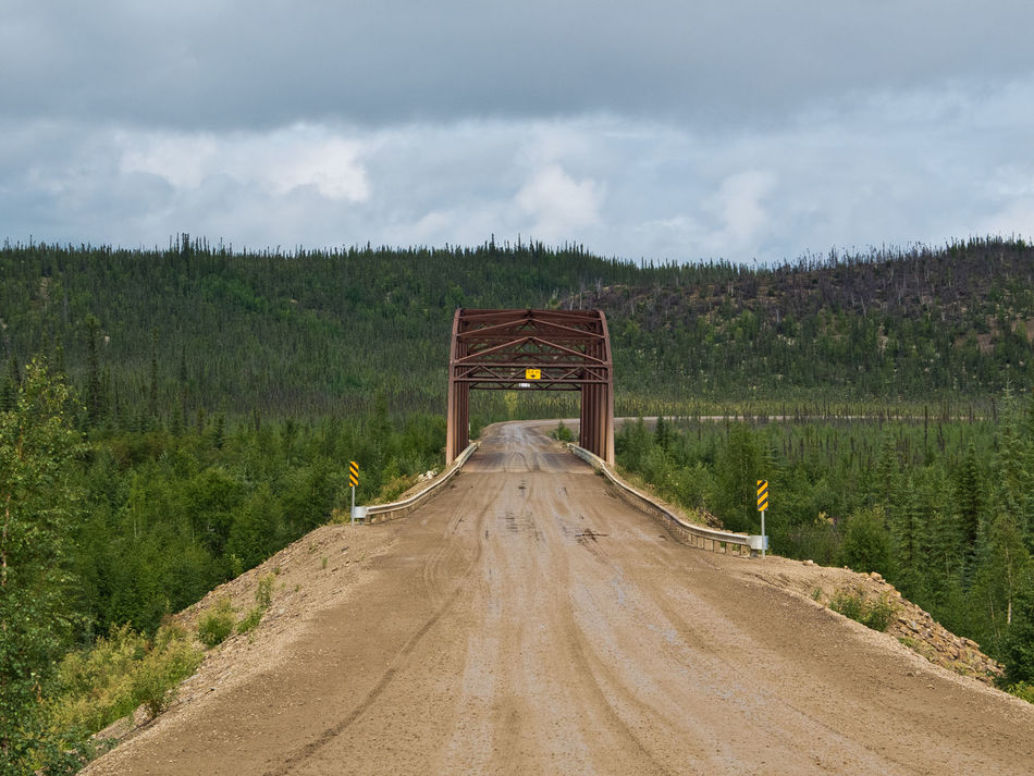Eagle river bridge, Dempster Highway Architecture Bridge Bridge - Man Made Structure Dempster Highway Engineering Outdoors Road Scenics