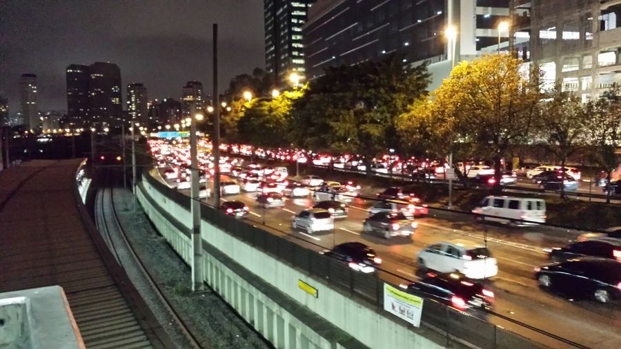 Rush time. Traffic Traffic Jam Big Time Rush City At Night
