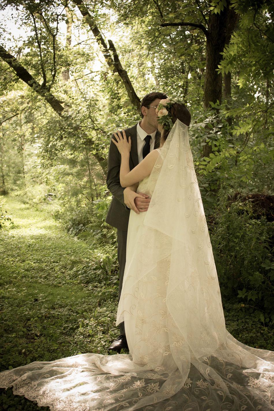 Beautiful stock photos of süße pärchen, two people, wedding dress, adult, women