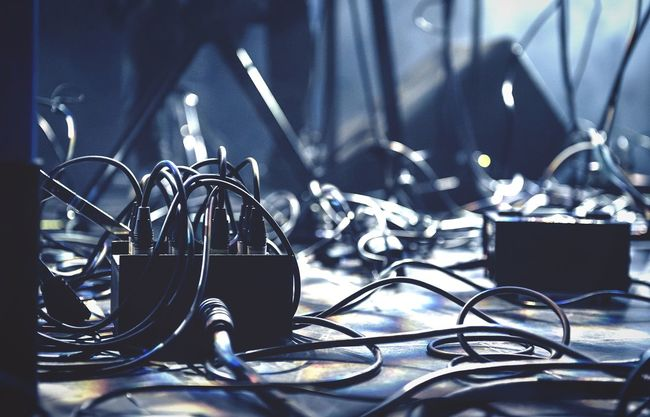 Lost in cables at yesterday's Mouseonkeys performance Outofthecrowd Kulturfabrik Music Concert