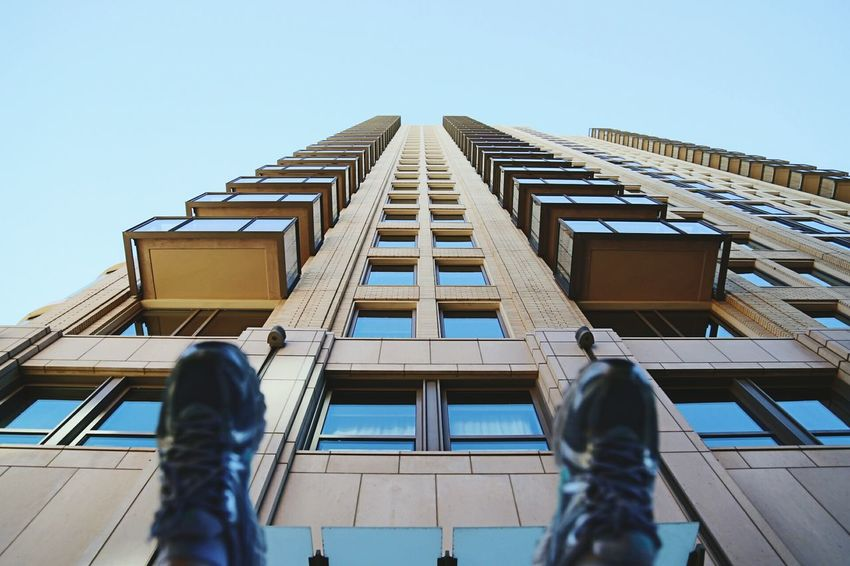 Taken By M. Leith The Architect - 2016 EyeEm Awards Shoes My Feet Silly Street Photography Outdoor Photography Blue Building City Cityscape City Life City Street Citycenter City Center Architecture Architecture Photography High Rise High Rise Building Highrises Tall Buildings Tall Tall Building Pattern Patterns Out Of The Box