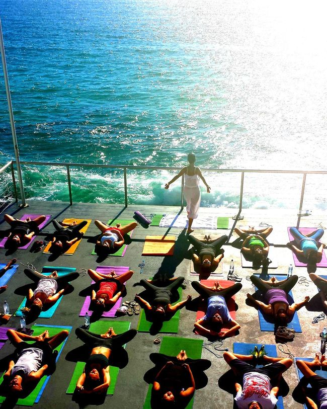 Yoga by the sea Water High Angle View Sea Nature Day Summer Ocean Outdoors First Eyeem Photo Yoga Yogapose Yogapractice Yogaphotography