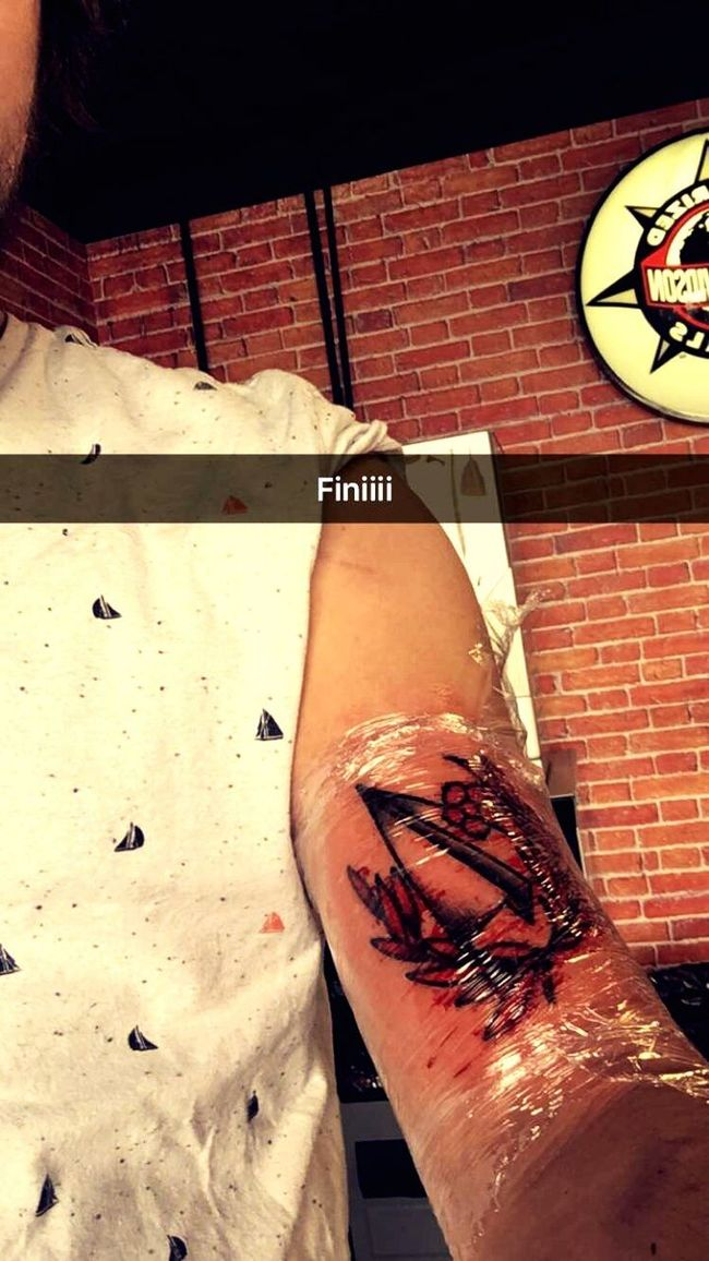 Paperplanes Tattoo That's Me The End