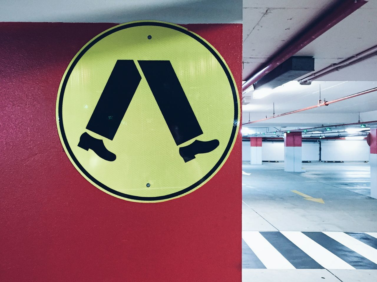 Parking Underground Underground Signs Parking Lot Parking Garage Urban Urban Photography Sign Signs Walk Pedestrian Crossing