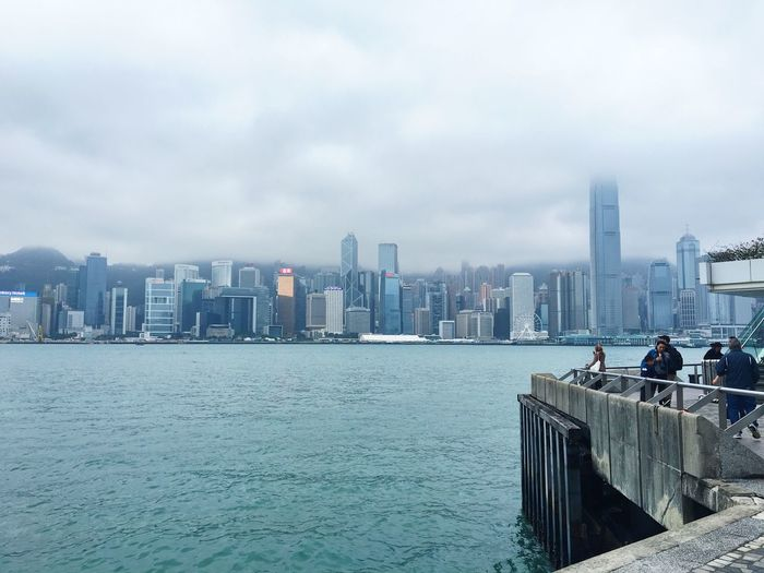 #Photography #HKG #VictoriaHarbour #sea Skyscraper Architecture City Water Tower Sky Outdoors Travel Destinations Cloud - Sky Sea Real People