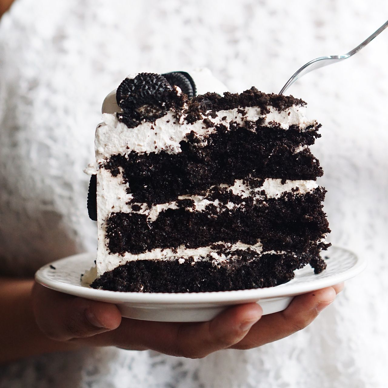 Sweet Food Food And Drink Indulgence Dessert Food Human Hand Unhealthy Eating Holding Temptation Unrecognizable Person Close-up Freshness Ready-to-eat Focus On Foreground Human Body Part Indoors  One Person Brownie Day Ice Cream