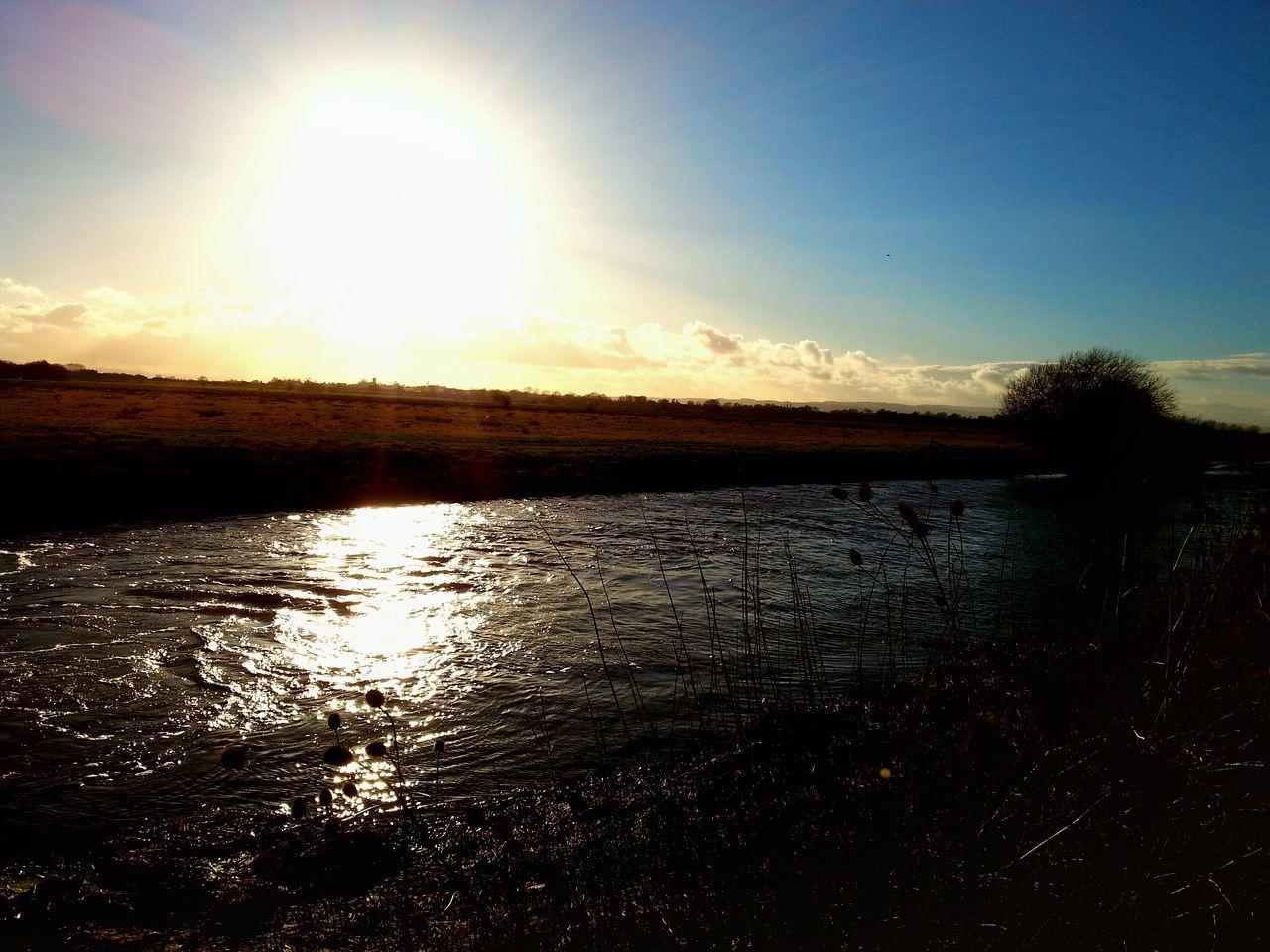 Somerset Levels Uk Bird Sanctuary Gray Lakes Nature On Your Doorstep River Bank  Evening View Taking Photos Enjoying Life