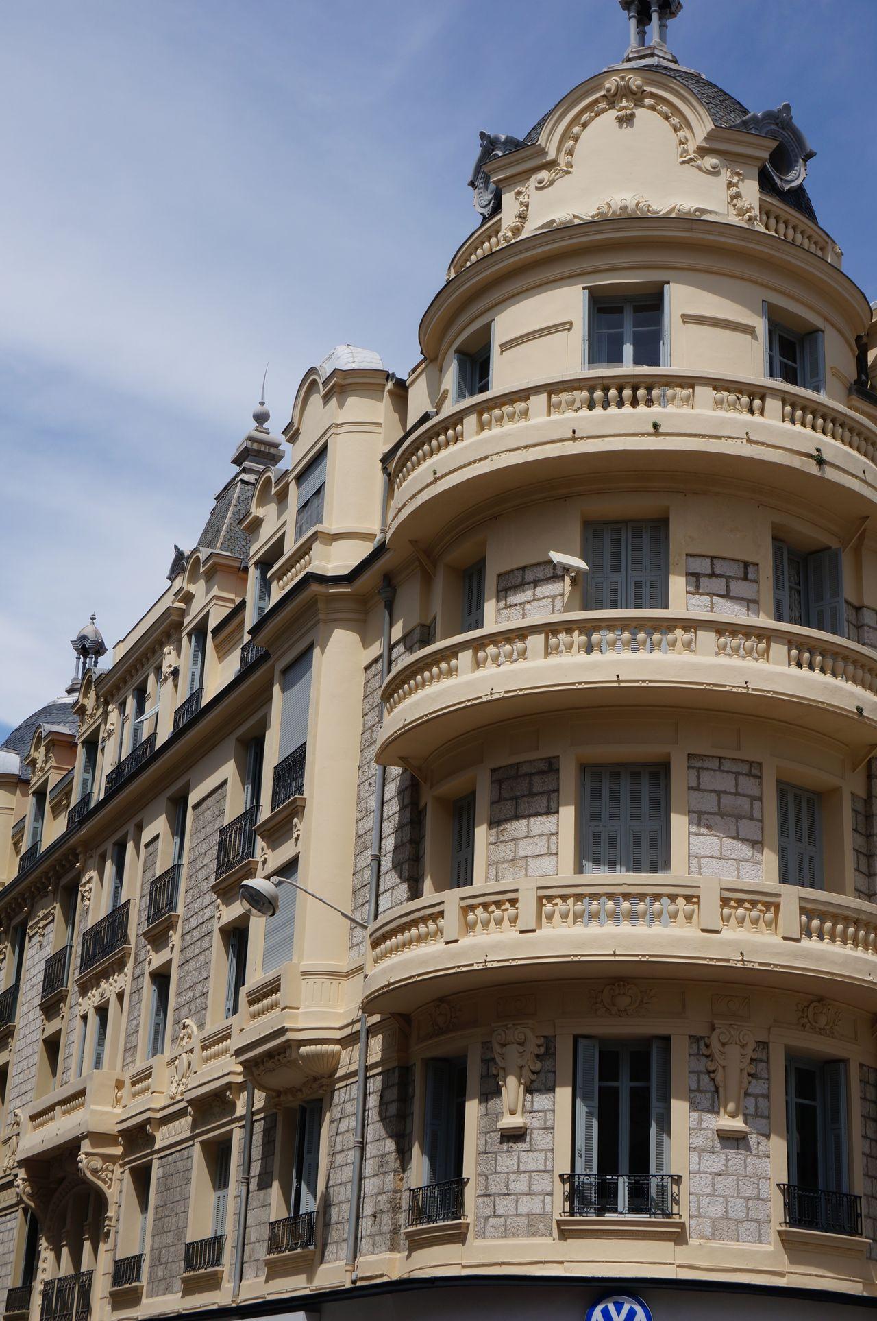 Nice / Nizza Côte D'Azur Architecture Building Building Exterior Vintage Building The South Of France Facade Building Façade