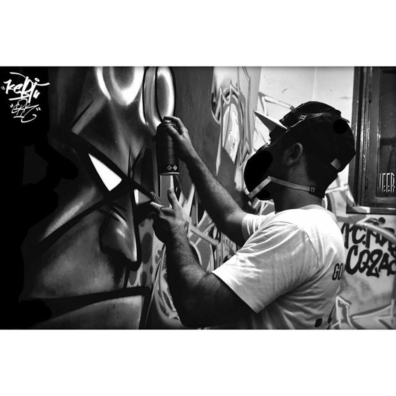 😈 HELL BOY 👤🎨 KEBI. Graffitiart Graffitiwall Graffiti Grkcrew Grkingz GRK Vandal Goldrushkingz