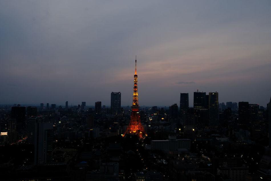 東京タワー/Tokyo Tower Fujifilm FUJIFILM X-T2 Fujifilm_xseries Japan Japan Photography Sky Sunset Sunset_collection Tokyo Tokyo Tower Tower Travel Destinations X-t2 世界貿易センタービル 東京タワー 東京鐵塔 鐵塔