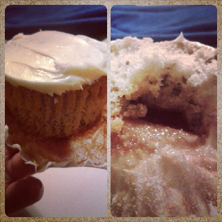 roommate made Caramel Butterpecan Cupcakes good lawd! Mywifeisbetterthanyours