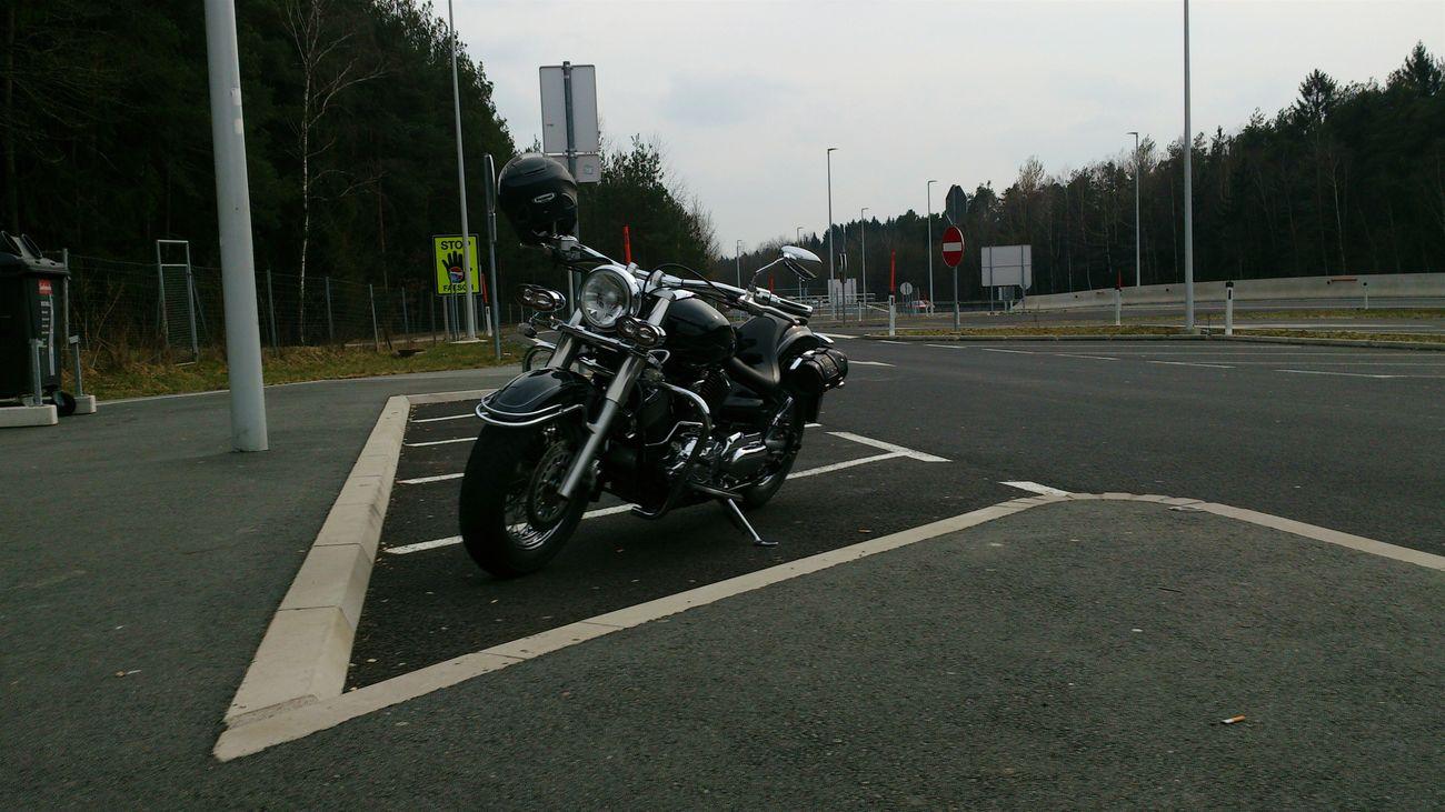 Traveling März2015 Motorcycles Yamaha Drag Star . Rastplatz Cruiser Unterwegs Trip