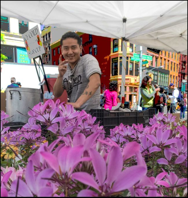 Friendly Vendor @ Farmers Mkt. - 5/11/16 As I Sees It Creative Selections & Adjustments W/ Ps CC2016 CroppedPicture EyeEm Best Edits EyeEm Best Shots Lifestyles The Photojournalist - 2016 EyeEm Awards The Street Photographer - 2016 EyeEm Awards Whistle While You Work Fresh on Market May 2016