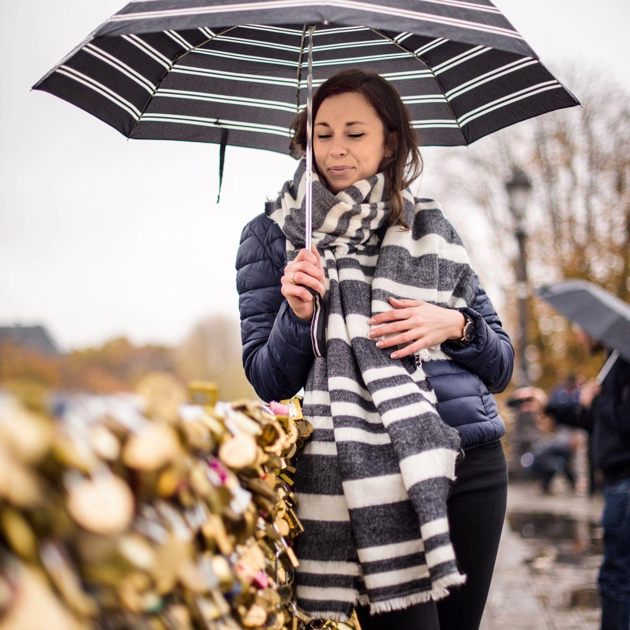 Rainy days in Paris with Charlotte! Bonsoir Paris! Rain Weather Striped Beautiful People Women Photooftheday EyeEm Best Shots Paris Parisweloveyou Smiling Paris ❤