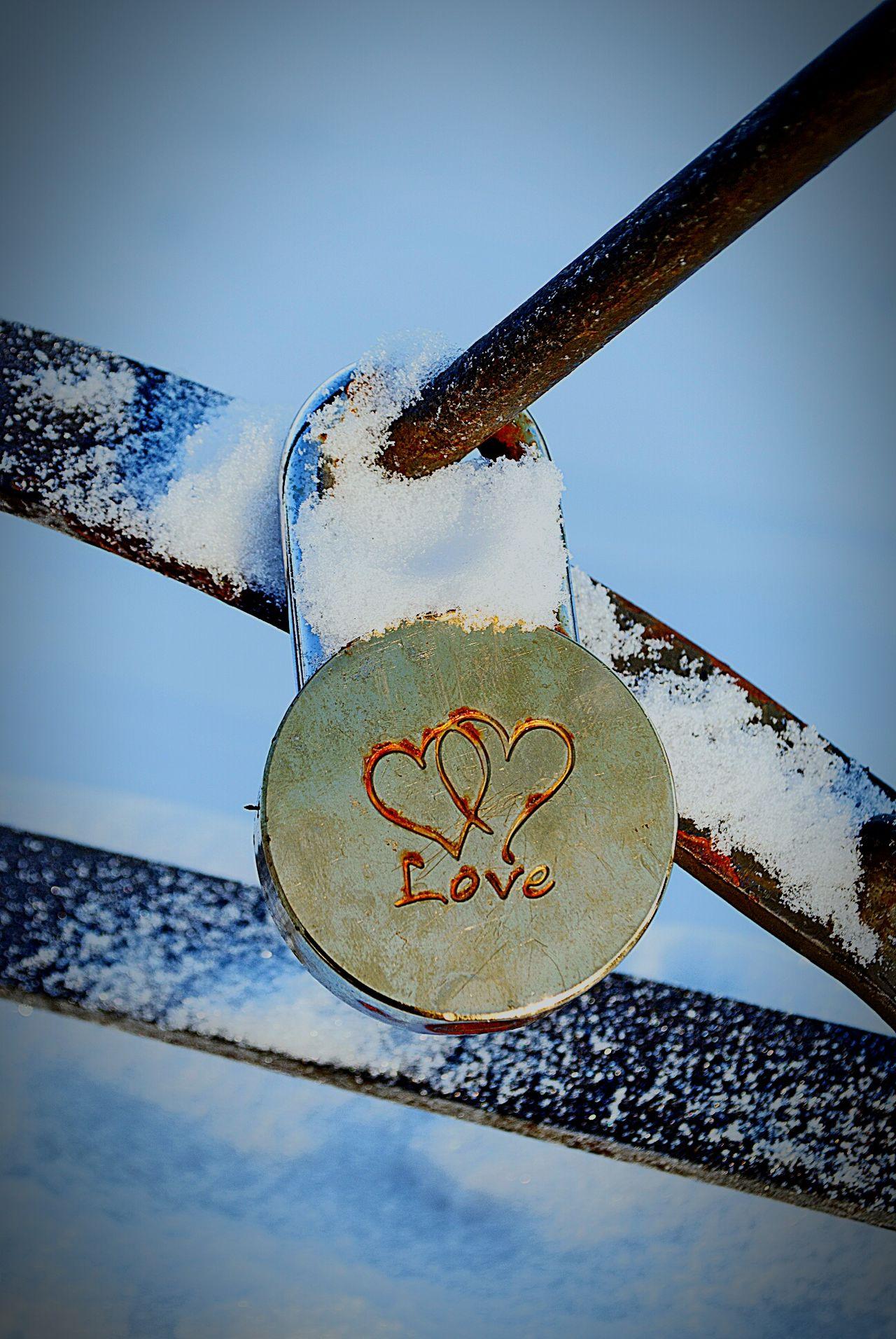 Nature Wedding Padlocks Metal Padlock Love Lock Lock Cold Temperature Winter Love