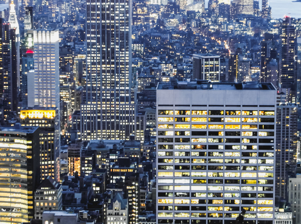 building exterior, architecture, illuminated, built structure, no people, cityscape, aerial view, full frame, outdoors, travel destinations, city, skyscraper, day