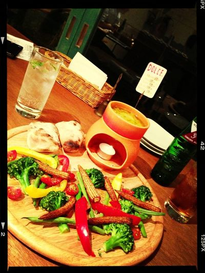 Dinner Bagna Cauda Focaccia Italian