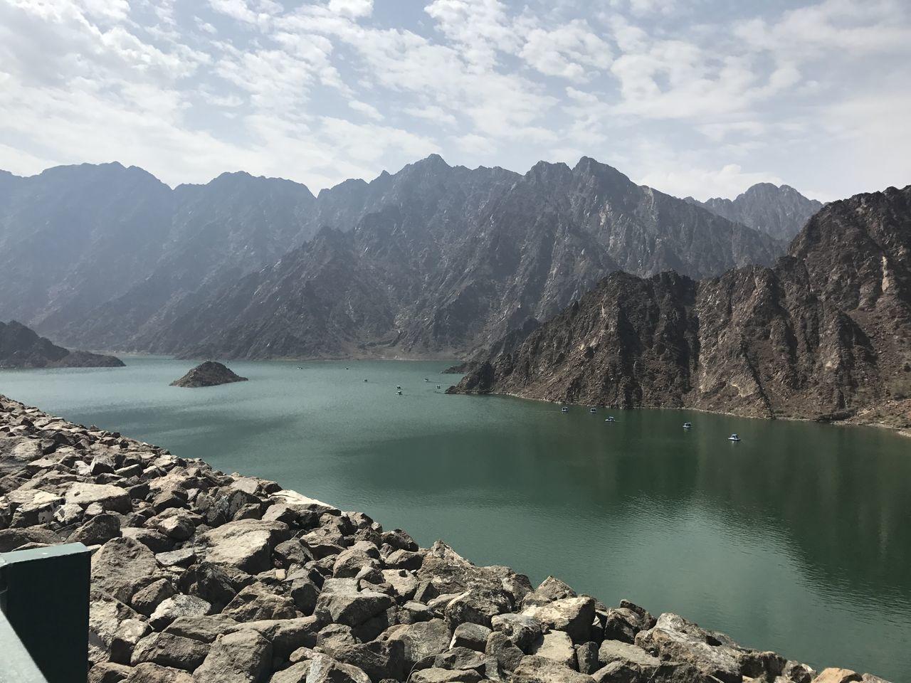 Hatta dam, dubai Lake Landscape Water Wilderness Mountain Nautical Vessel Outdoors Scenics No People Day HattaDam Hatta Hatta Dubai