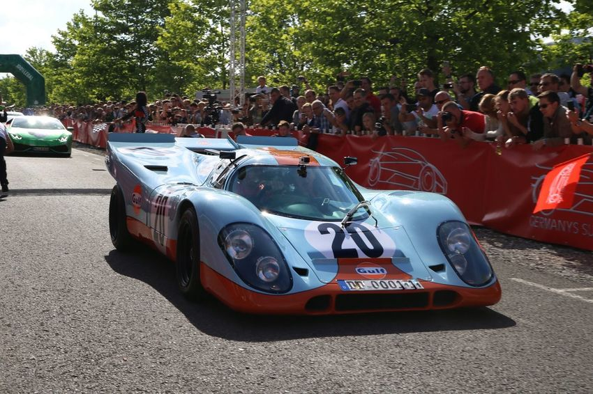 Gulf Porsch Le Mans Car Mode Of Transport Land Vehicle Transportation Road Street Travel Day Outdoors City Life Roadside Travel Supercars Supercar Vehicle Photo Photography Photographer Cars Luxury Luxurylifestyle  Modern In Front Of Road Porsche