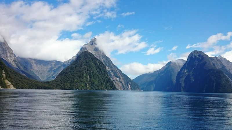 Milford Sound Newzealand New Zealand Nature Sea Blue Blue Sky Milford Sound Traveling Mountains