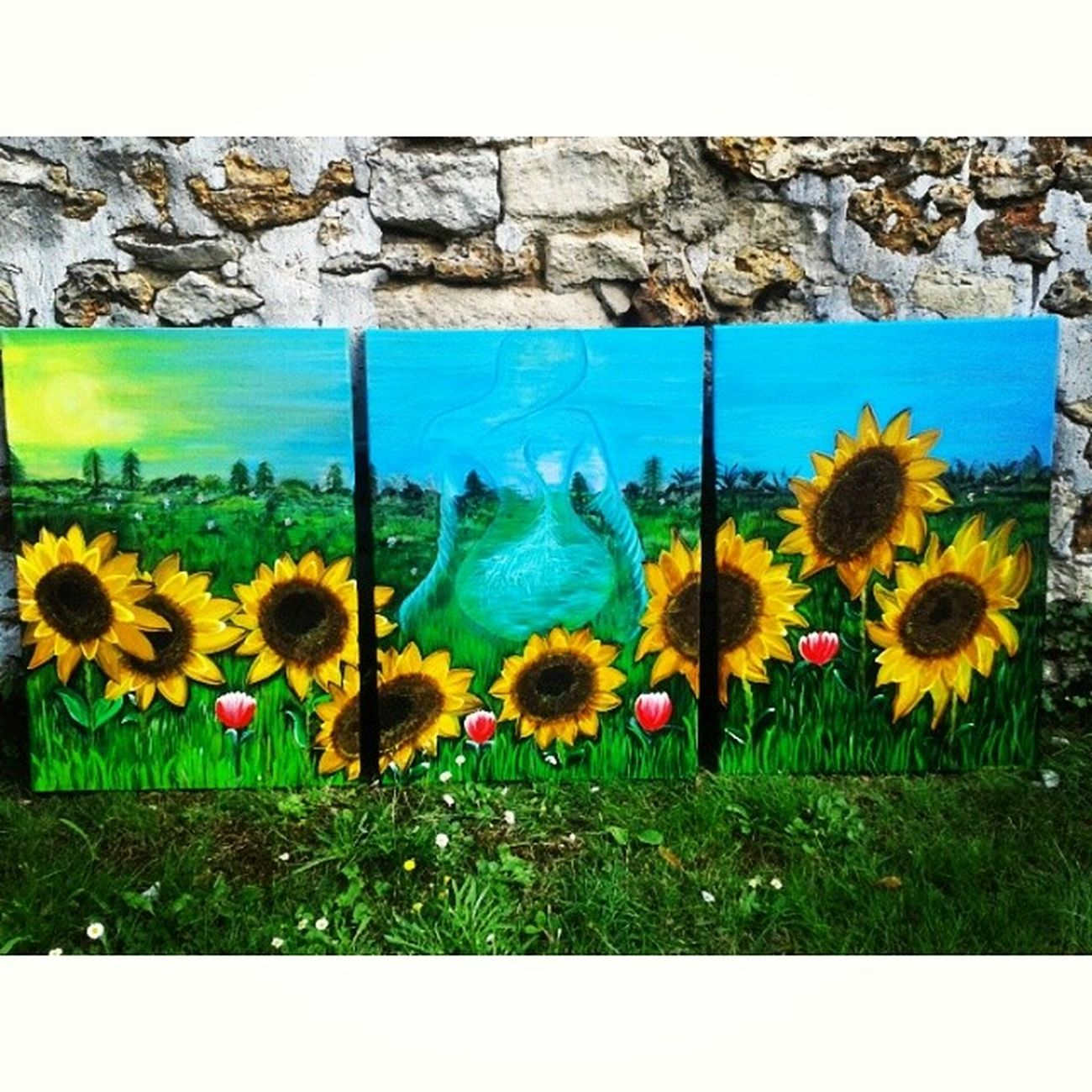 TableauxTournesols Mes Peintures Acryliques artartisteabstraitcouleurfemmededostriptikpaysagetulipessocuteinstantinstacoolréelirréelimaginationfleurfloweroriginalfollow instagooddreampaintingsrêvelove nature