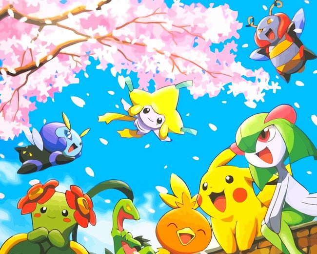 HD Day Draw Dessin Pokémon 20th Anniversary Backgrounds Sky Blue Nature Horizontal Multi Colored No People Pikachu Motion Outdoors Group Horizontal