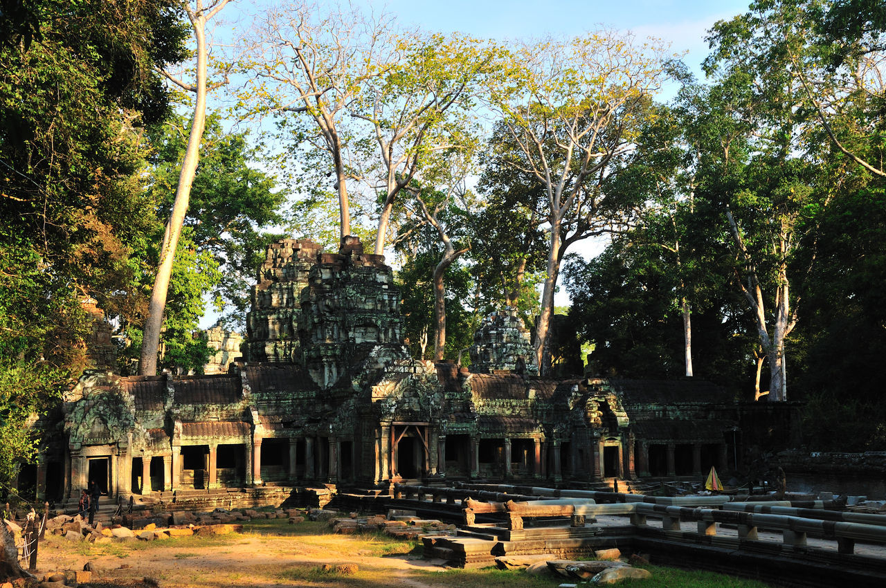 Ancient Architecture Angkor Thom Architecture Building Exterior Built Structure Capital Cities  City Façade Famous Place Historic History International Landmark Leading Outdoors Place Of Worship Religion Spirituality Statue Town Square Tree Roots