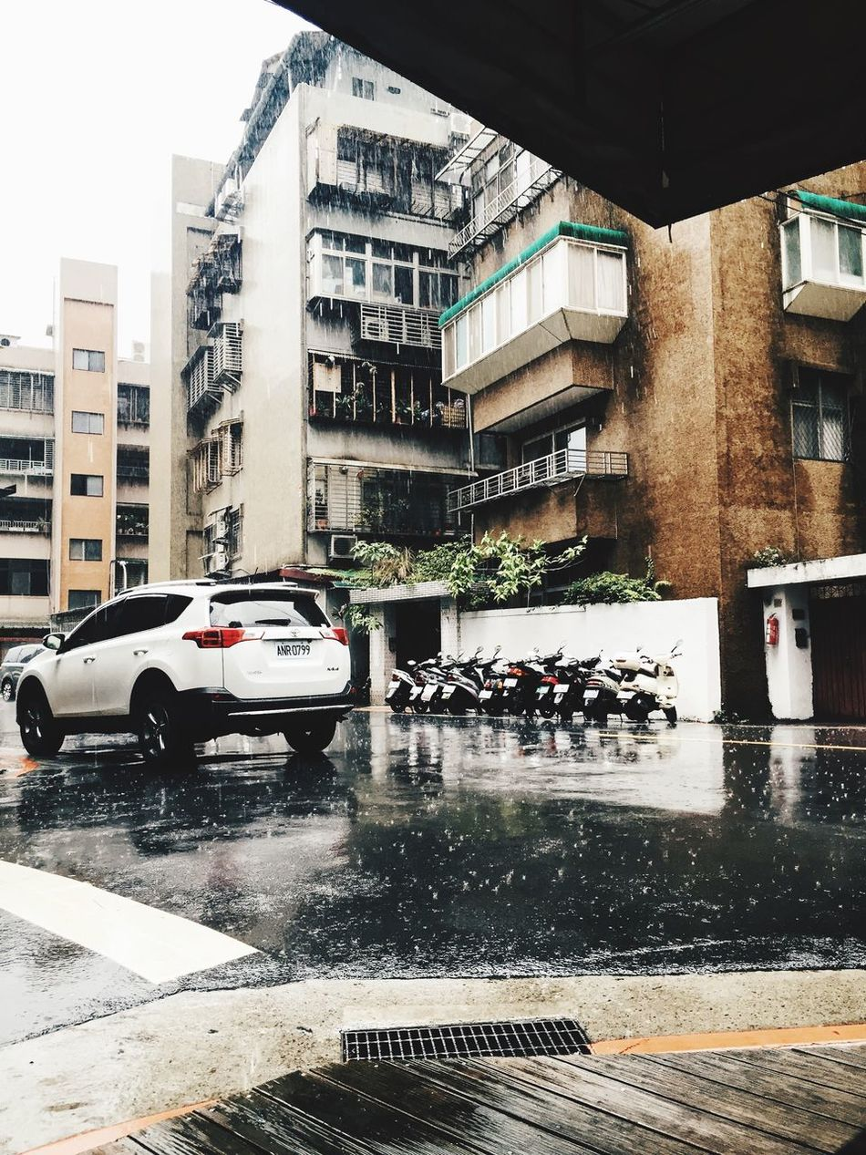 Rain Raindrops Rainy Days Gloomy Weather Taiwan Taipei Trip Photo