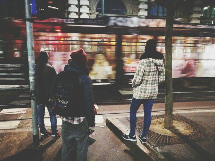 Milano Garibaldi Gae Aulenti People Tram Milan,Italy Night Nightphotography Winter Urban Skyline Large Group Of People Togetherness