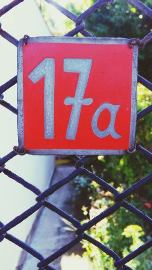 Number 17a Number Labels 17 17A Door Numbers