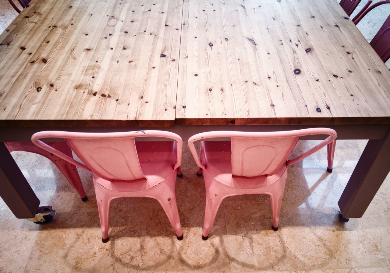 Millennial Pink Pink Pink Color Getty Images Tadaa Community AMPt_community EyeEm Team Chair Table Wood Wood - Material