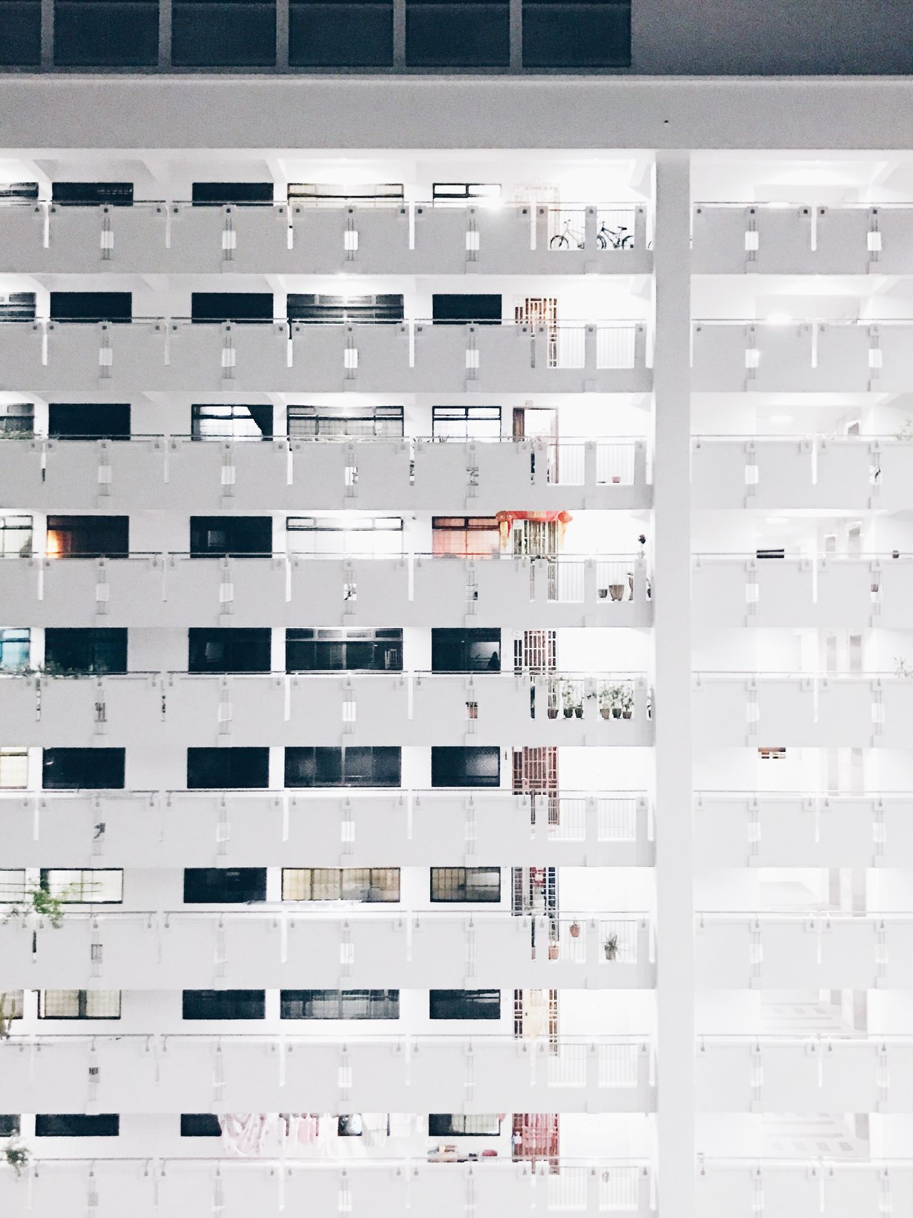 Architecture Apartment City Window Residential Building Full Frame Housing Development Day Indoors  No People White Photography