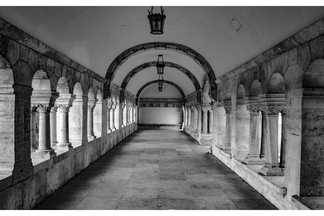 Colonnade & Archways, Fishermen's Bastion, Budapest, Hungary Arch Architectural Column Architecture Archway Archways Balck And White Black & White Black And White Black And White Collection  Black And White Photography Black&white Blackandwhite Blackandwhite Photography Blackandwhitephotography Built Structure Capital Cities  Colonnade Column Corridor Empty Corridor Historic History Old Pillar Travel Destinations
