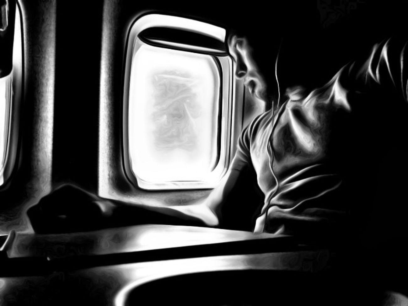 From An Airplane Window EyeEm Best Shots - Black + White HDR Selfportrait