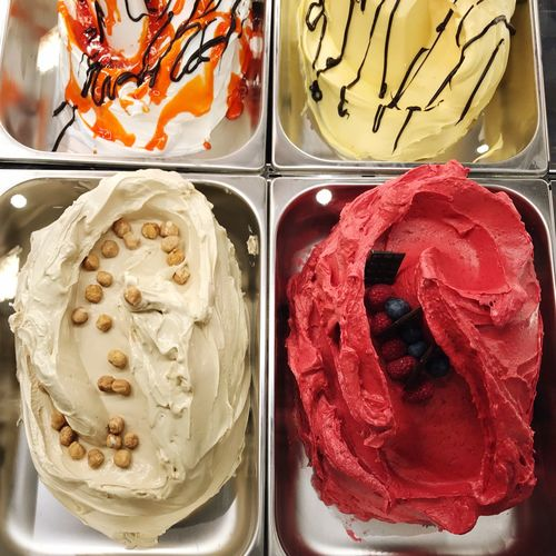 Ice Cream Parlor Ice Cream Flavors Ice Cream Food And Drink Red Food No People Close-up Freshness Indoors  Ready-to-eat