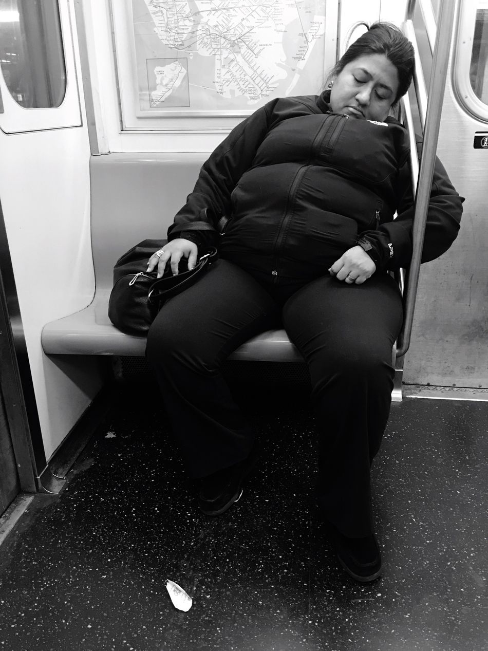 It happens NYC Photography Taking Photos Running Late Train Sleeping It's Ok