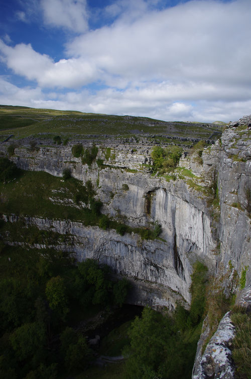 Beauty In Nature Cliff Cloud - Sky Cove Day Hiking Landscape Limestone Malham Malham Cove Nature No People Outdoors Rural Scene Scenics Sky Travel Destinations Tree Yorkshire Yorkshire Dales