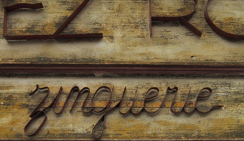 Architecture Commerciale Clamecy Close-up Commerce Enseigne Façade Façade Commerciale Metal Old Rouille Textured  Wall Yonne Zinguerie