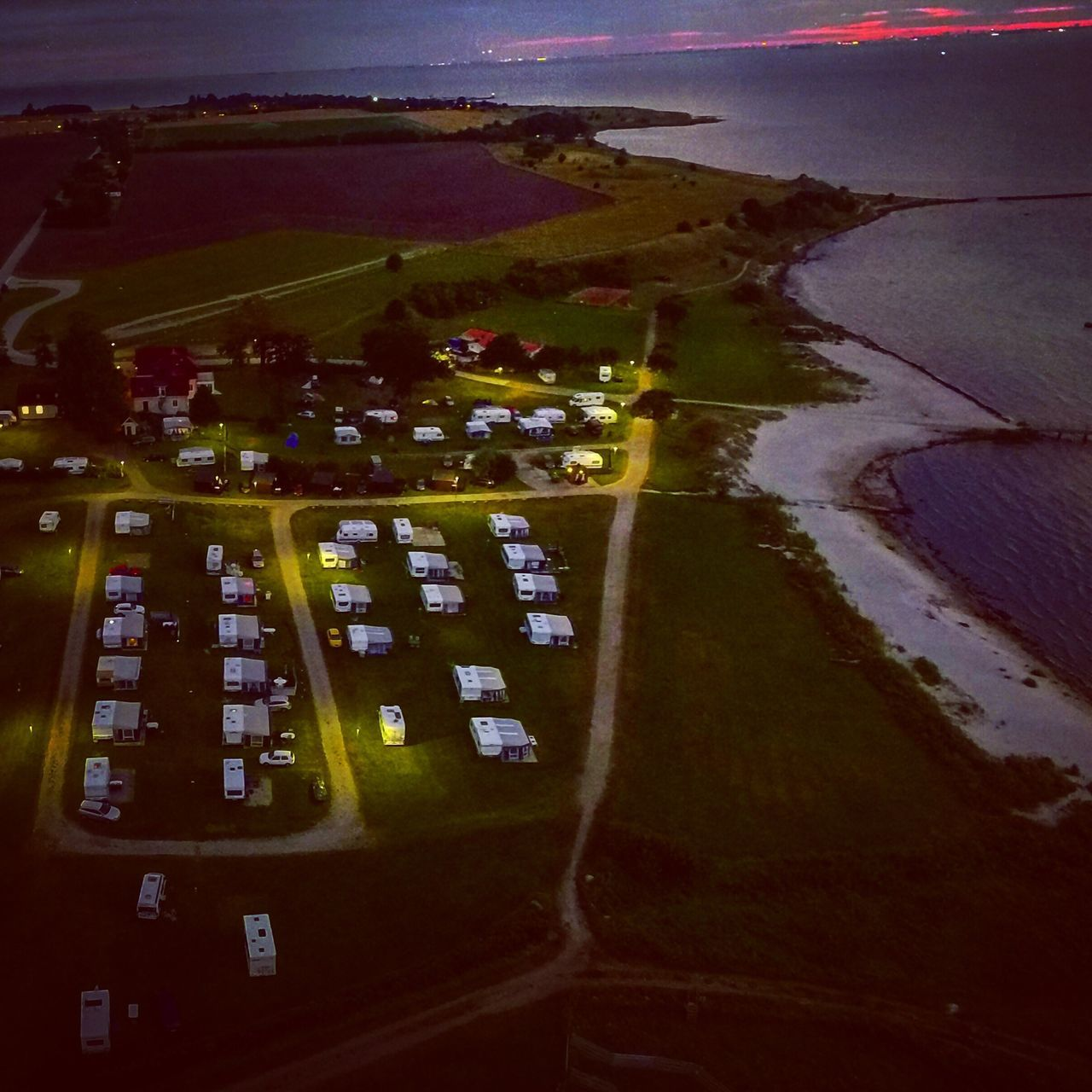 No People Transportation Aerial View Water Outdoors Air Vehicle Day Close-up Camp Campsite Campinglife öresund Sweden Northsea Drone  Dronephotography Aerial Shot Aerial Photography