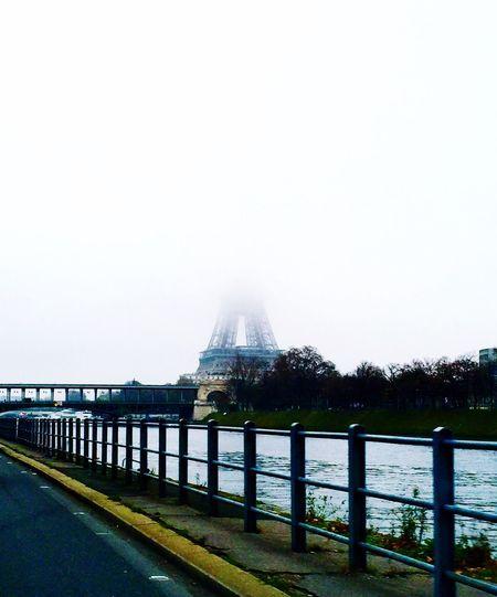 La Tour Eiffel 🇫🇷 in the mist 🌬 Eiffel Tower