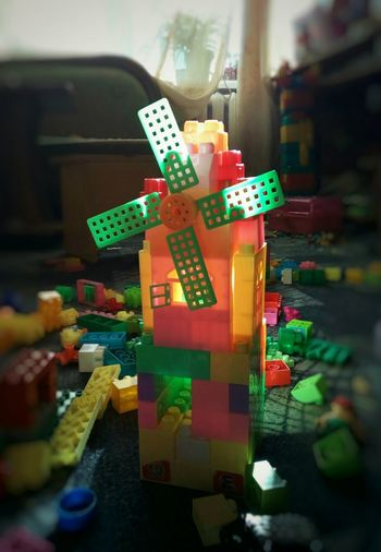 In the children's room Construction Details LEGO Children's Room Toys Plastic Plastic Toys Blocks Block Mill House Creation Play Childhood Colourful