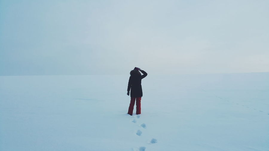 PhonePhotography Siberia Russia Winter Landscape Nature Girl Snow