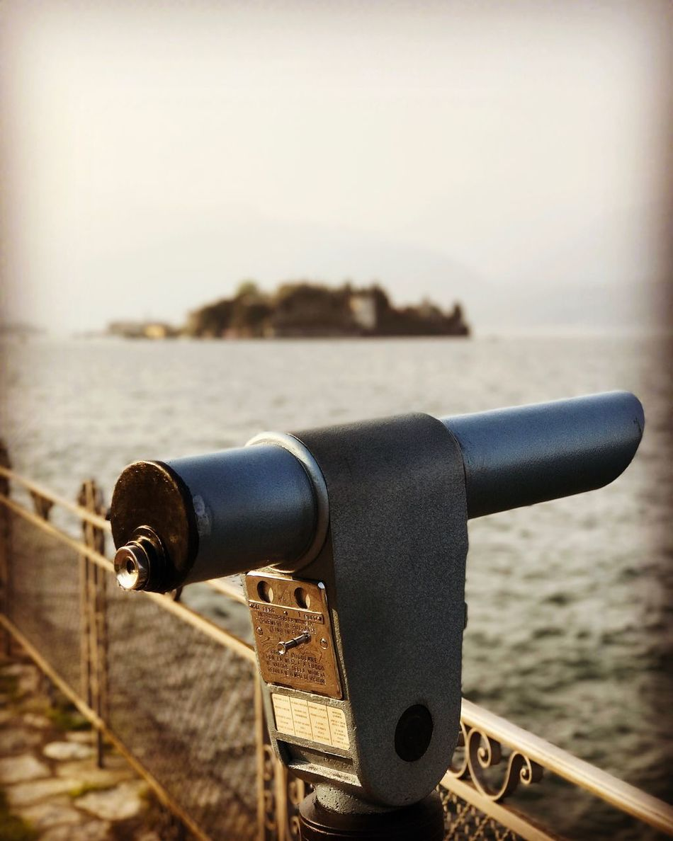 Coin-operated Binoculars Water Focus On Foreground Metal Hand-held Telescope Sea Close-up Outdoors Telescope No People Clear Sky Day Sky Horizon Over Water Cityscape Nature
