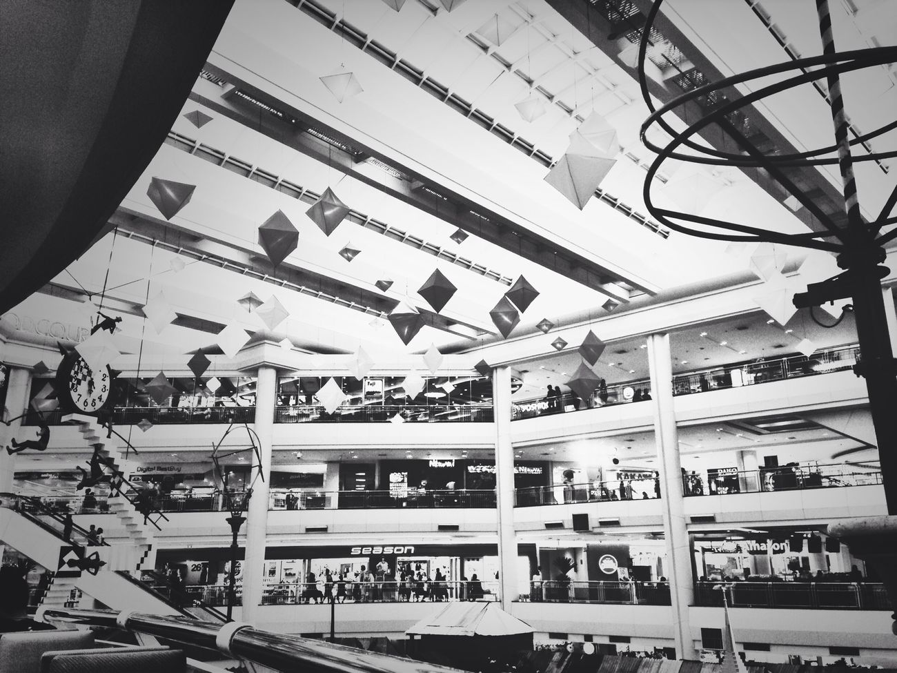 The Mall Shopping Plaza Department Store Black And White