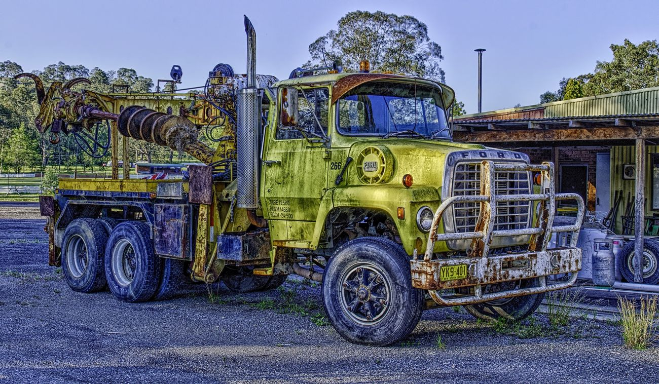 HDR Truck captured at Paterson, NSW, Australia. Full resolution image at https://flic.kr/p/zVQZiV HDR Collection HDR EyeEm Best Shots - HDR Truck Rust Texture Yellow Ford Truck Trucks Hdr Edit