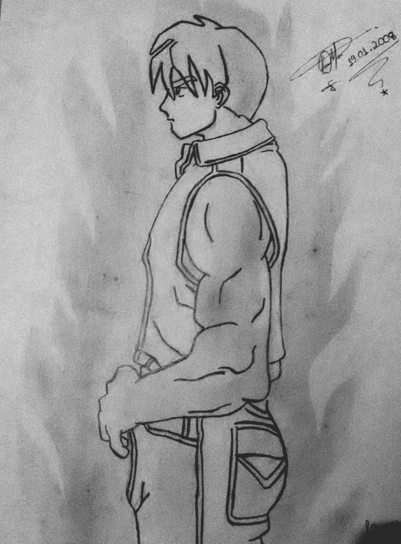 Boy Muscle Dibujo Desenho Drawing LM_colection Graphite Black & White Art Artistic